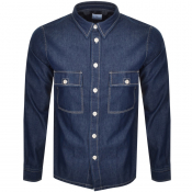 PS By Paul Smith Long Sleeved Denim Shirt Navy